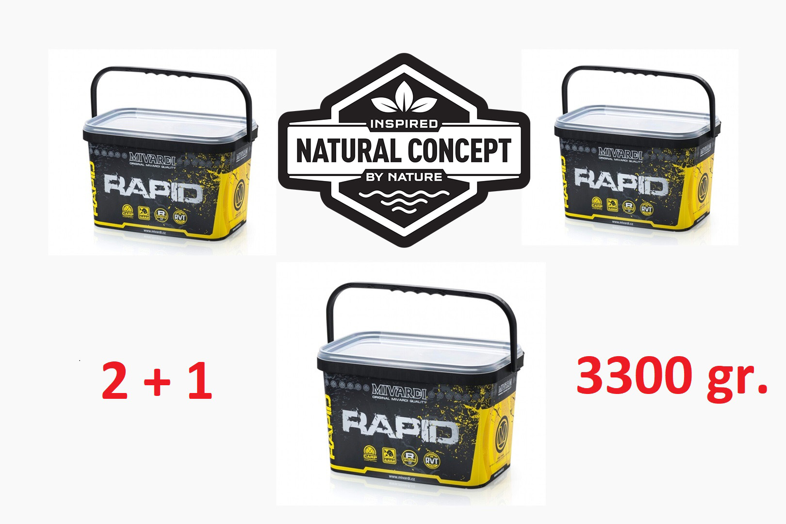 Akce 2+1 Rapid Boilies Platinum - Sea (3300g | 20mm)