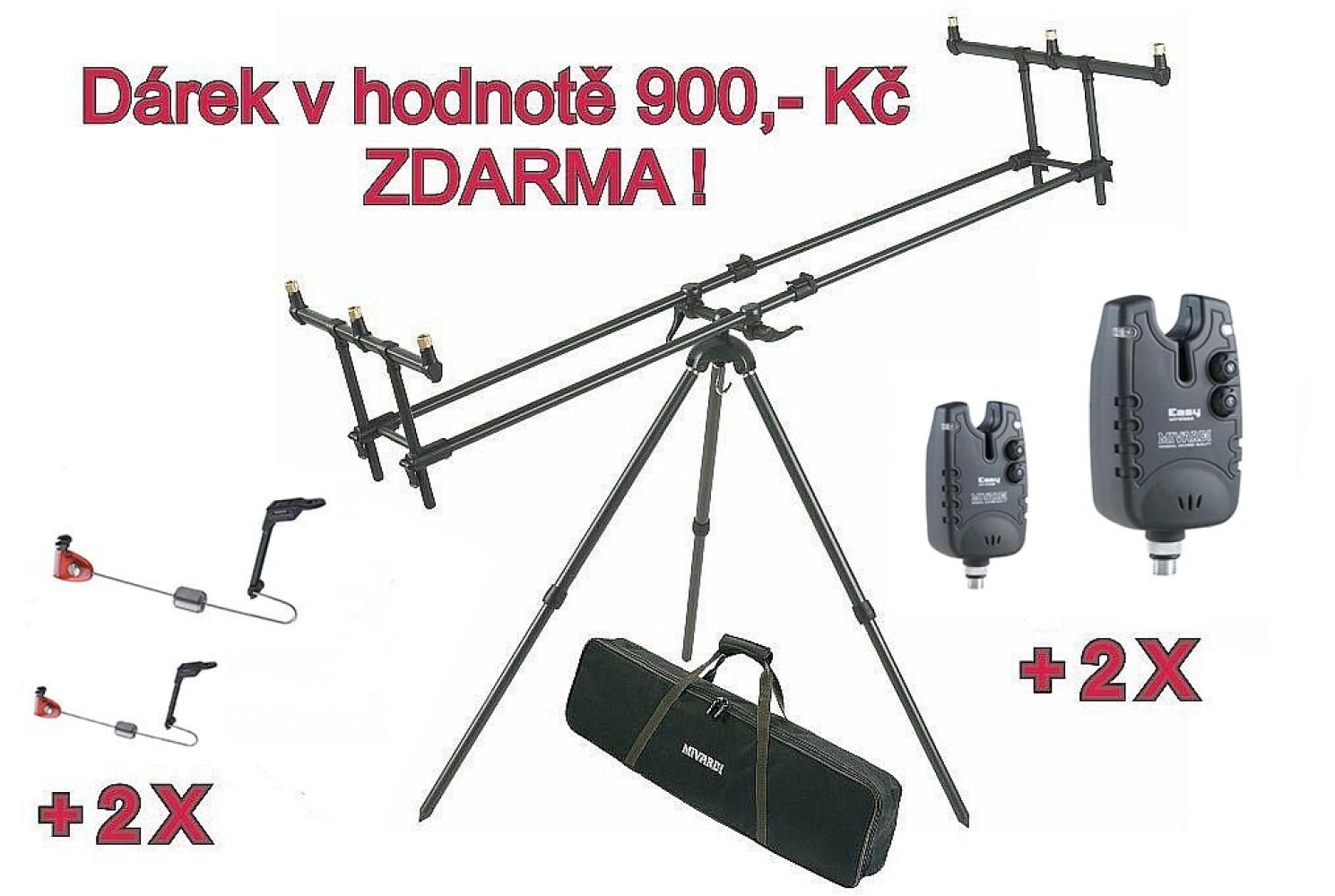 AKCE - Tripod Premium + ZDARMA 2 x Hlásič EASY blue & green a 2 x Swing Arm no.130 blue & green