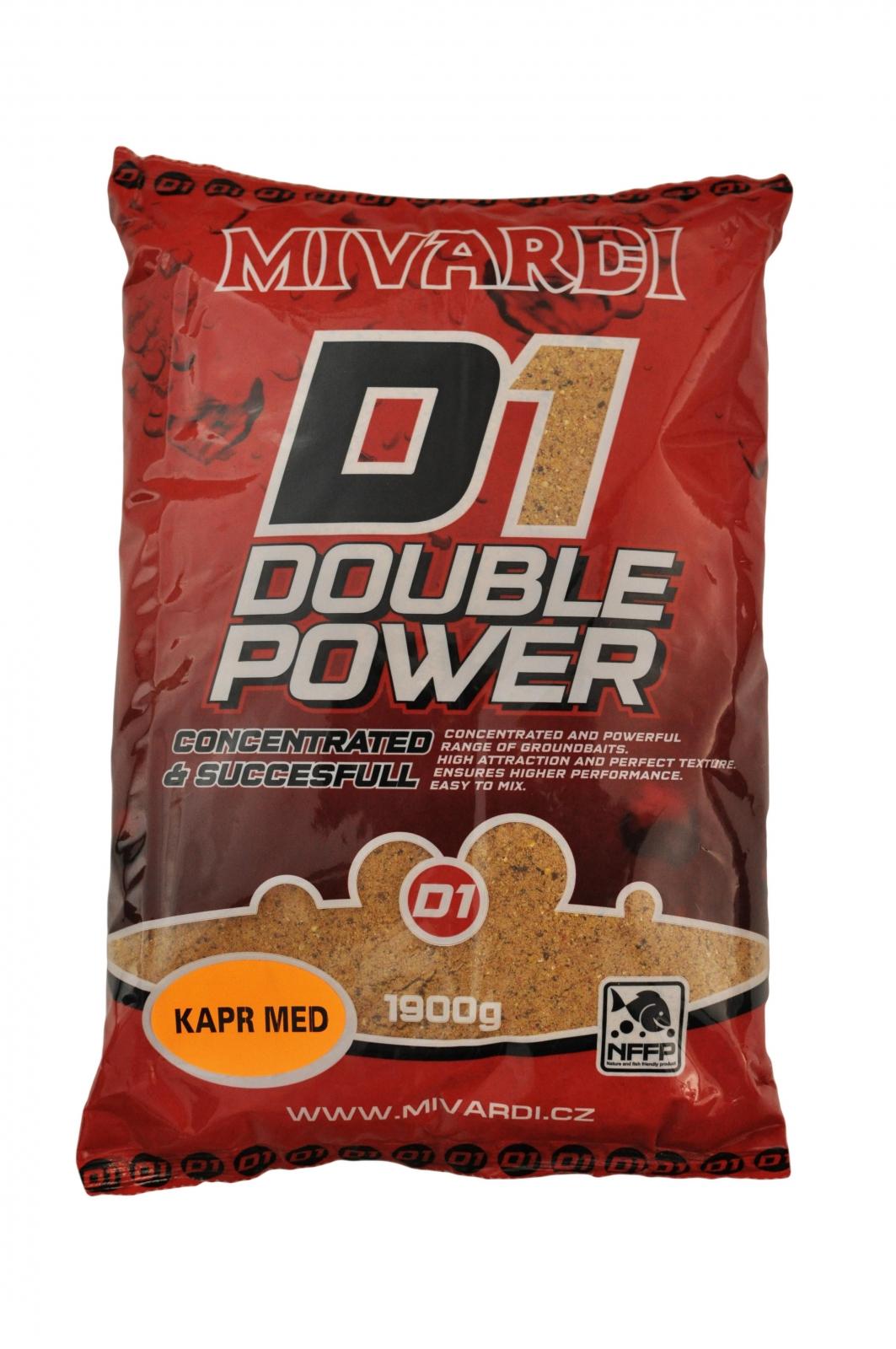 Vnadící směs Mivardi D1 Kapr Med 1,9 kg