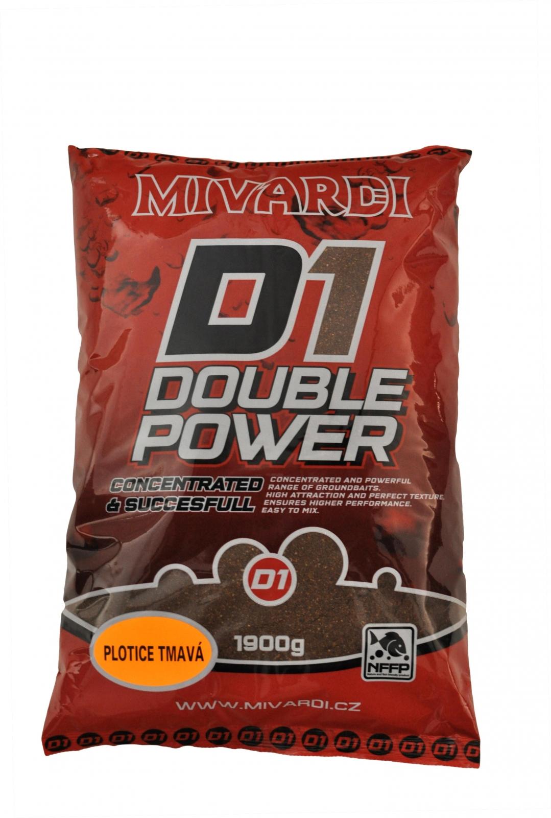 Vnadící směs Mivardi D1 Plotice Tmavá 1,9 kg