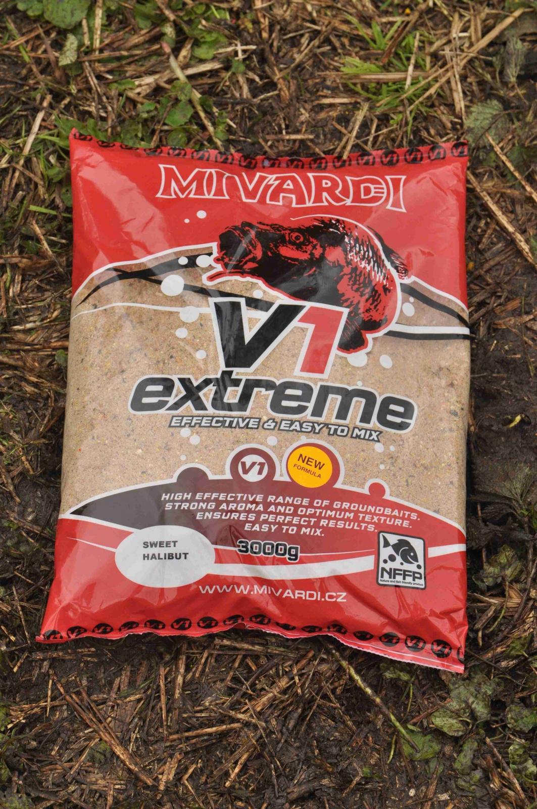 Vnadící směs Mivardi V1 Sweet Halibut 3 kg
