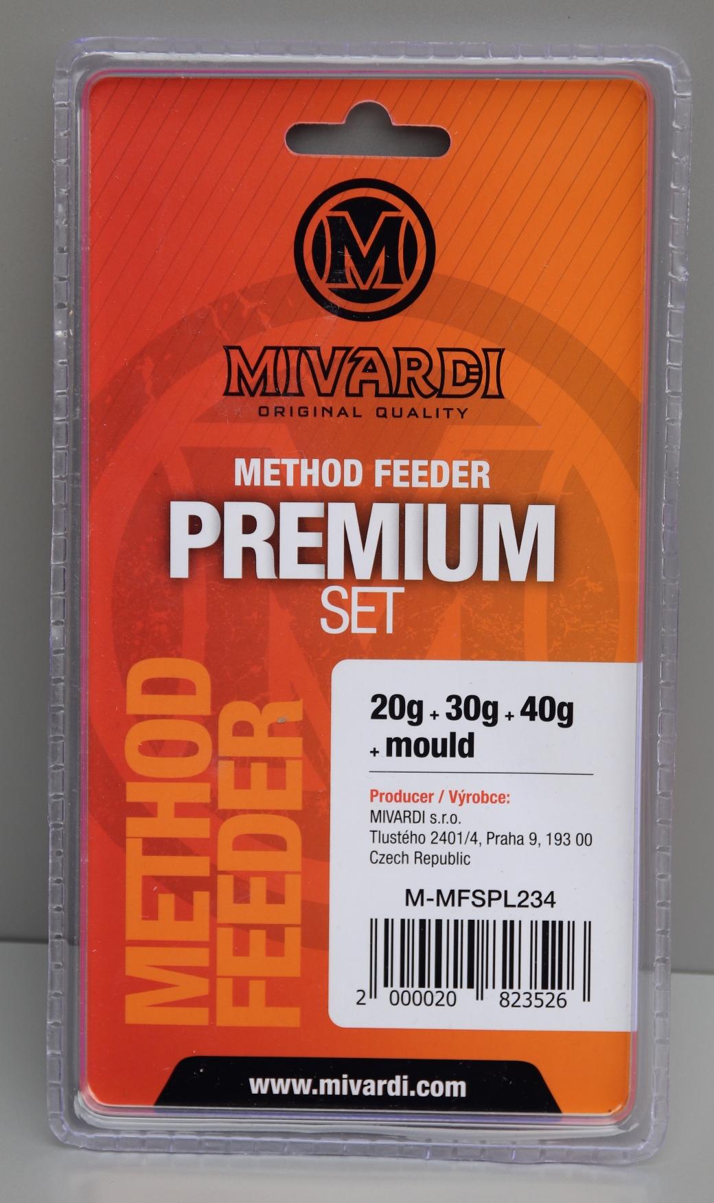 Set krmítek Mivardi Method Feeder Premium L (20g + 30g + 40g + formička)