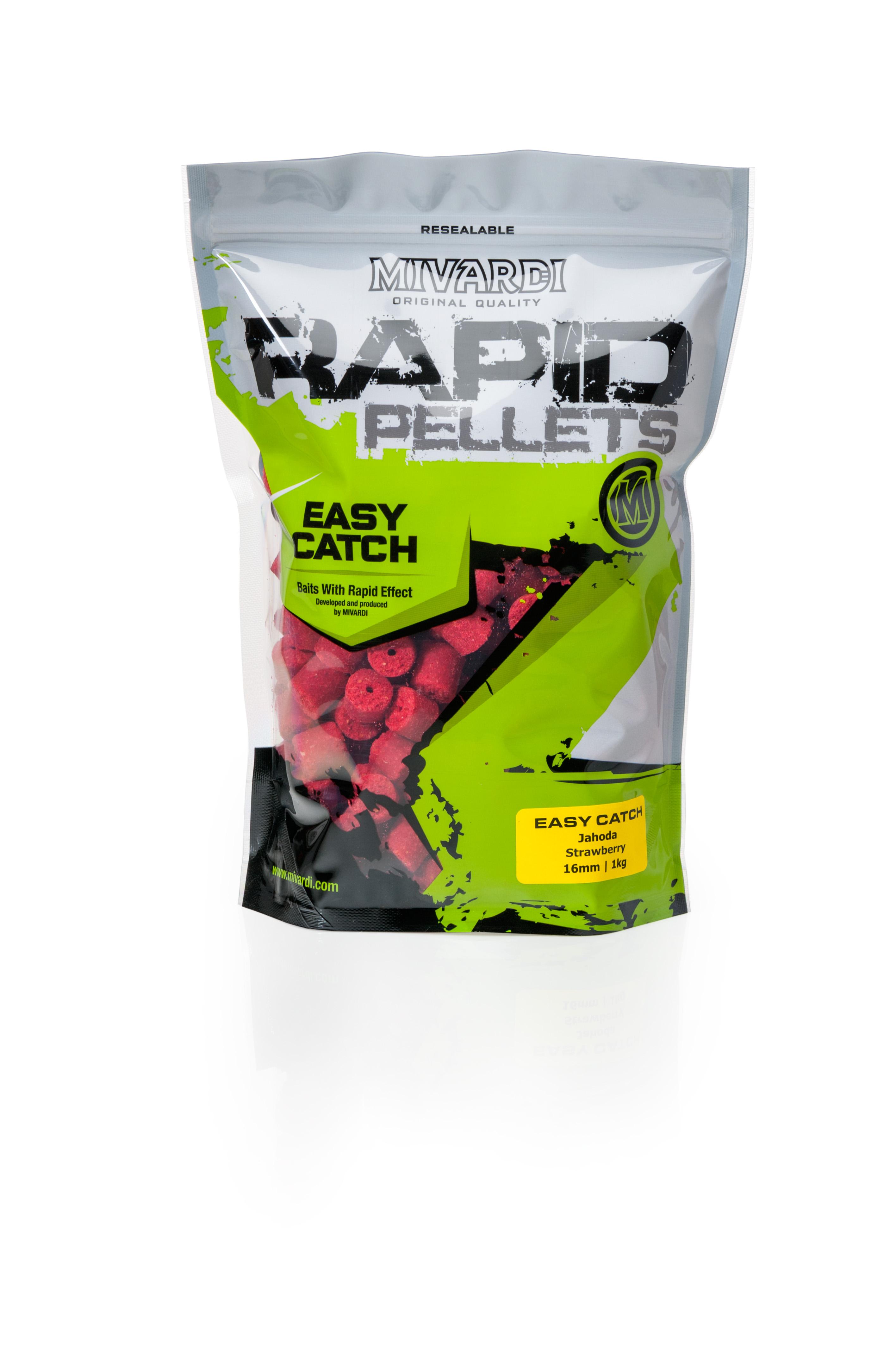 Pelety Rapid Easy Catch Jahoda 1 kg 12 mm