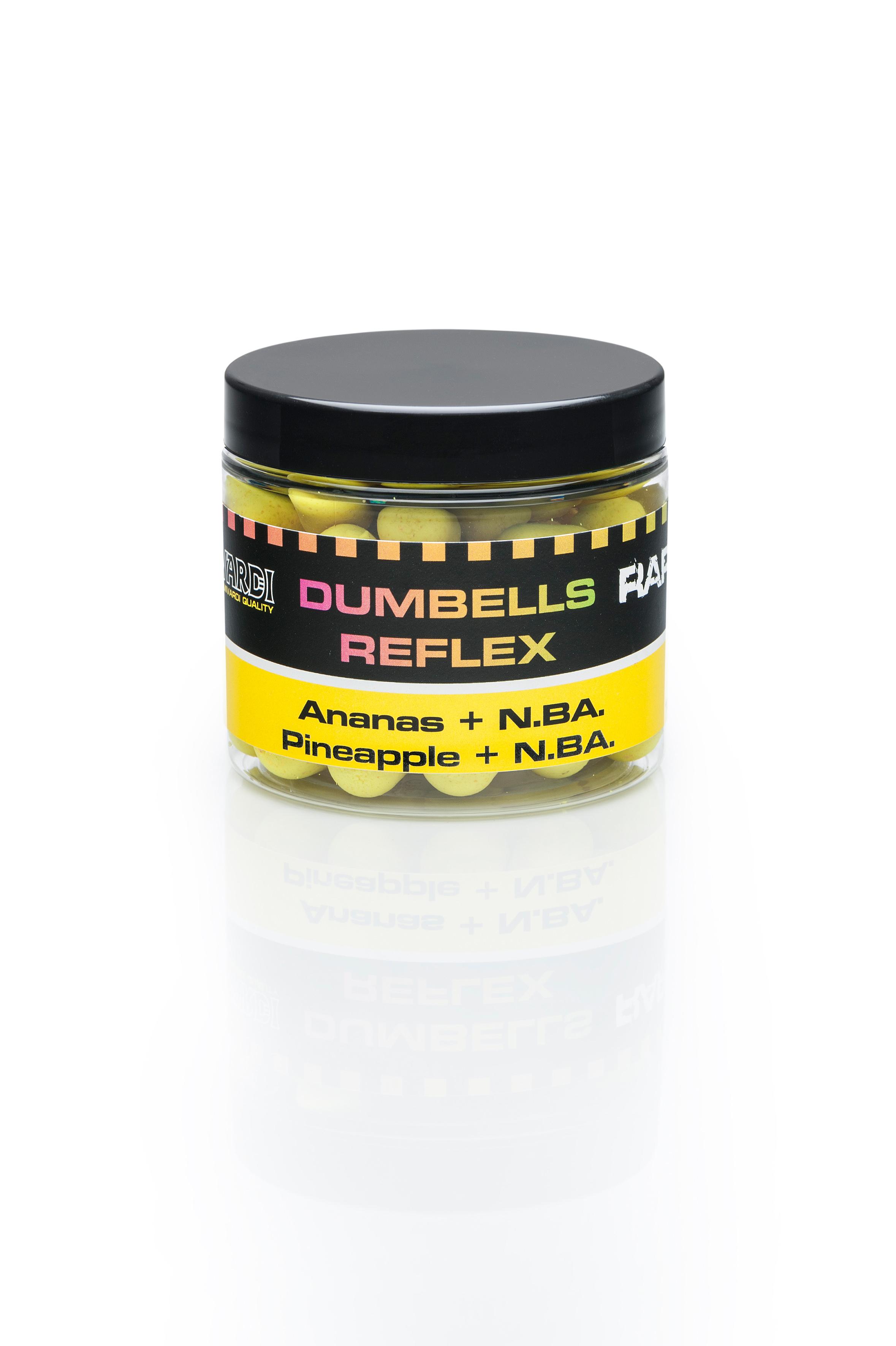 Plovoucí boilies Mivardi Rapid Dumbells Reflex Ananas + N.BA. 18 mm