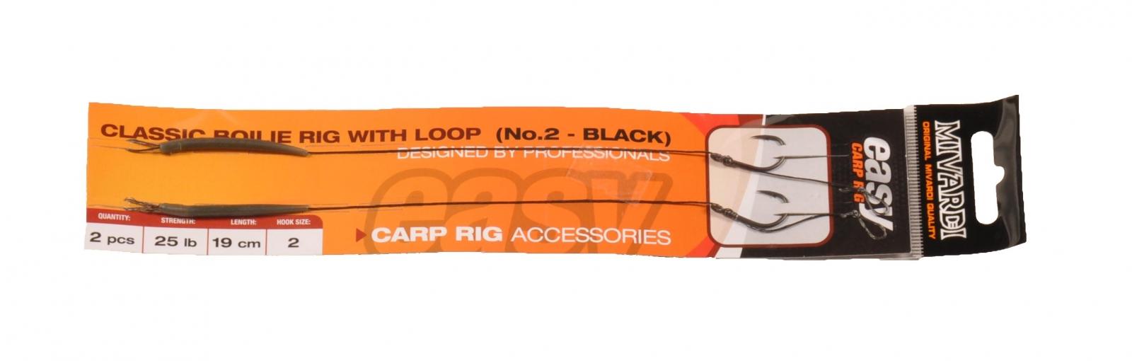 Classic boilie rig Easy s očkem vel. 2 černý